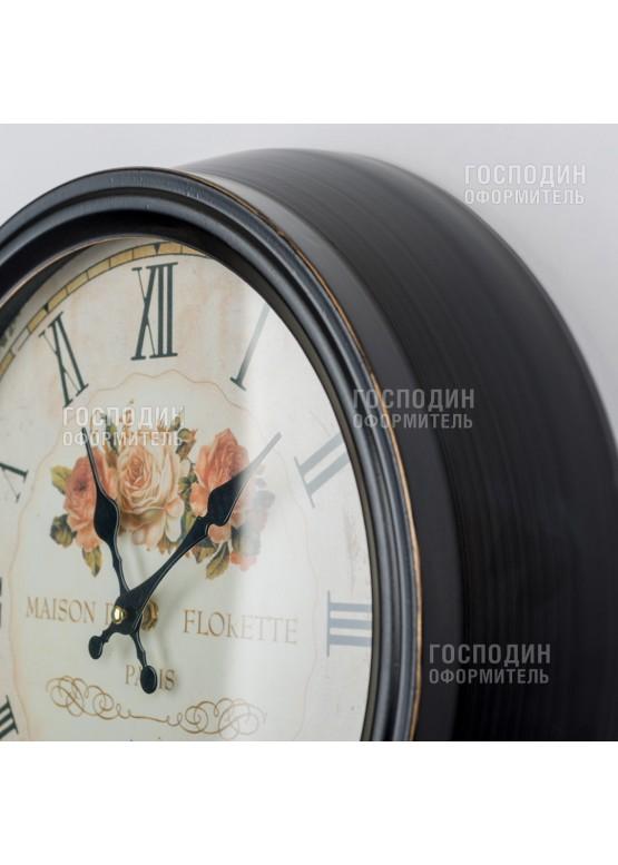 2374 Настенные часы «Розы», 39х10х39см, металл