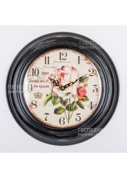 2376 Настенные часы «Розы», 32х5х32см, металл