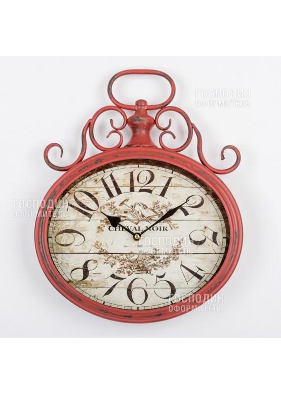 2377 Часы настенные d40см, металл, стекло