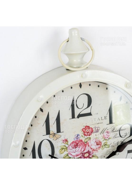 2385 Часы настенные 31х34см, металл, стекло
