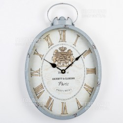 2388 Часы настенные 30х6х46см, металл, стекло
