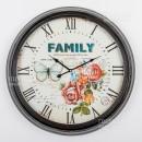 2370 Часы настенные, d62см, металл, стекло