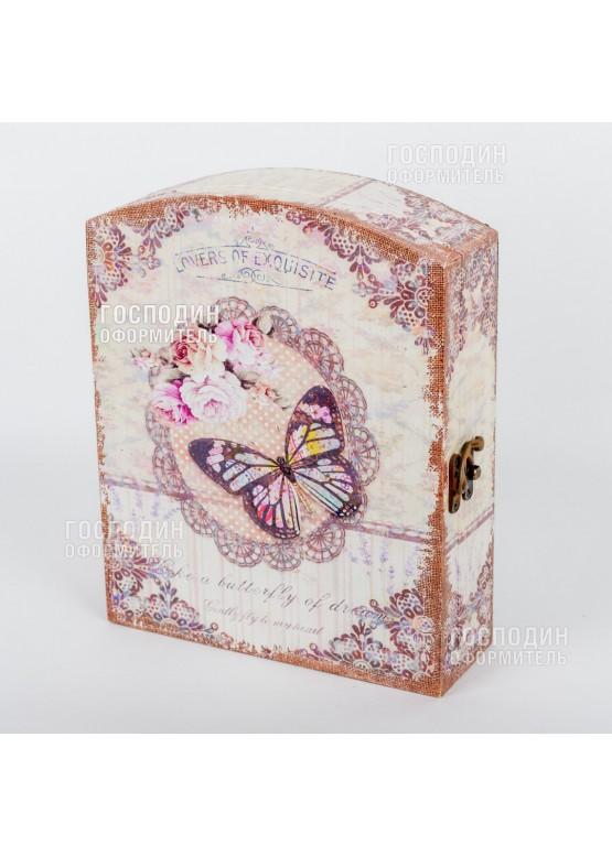 2324 Ключница «Бабочка», 30х24х8см
