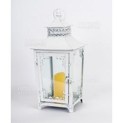 2340 Подсвечник, 18х18х34см, металл, стекло