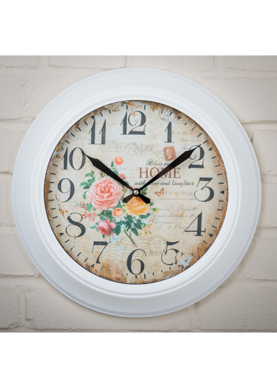 2373 Настенные часы «Розы», 38х5х38см, металл