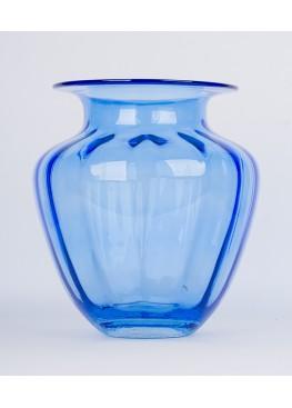 1126  Ваза голубая 25х25х28см, стекло