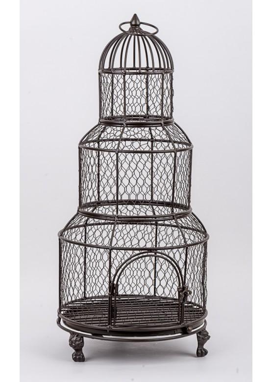 48879 Декоративная клетка, 31х31х72см, металл