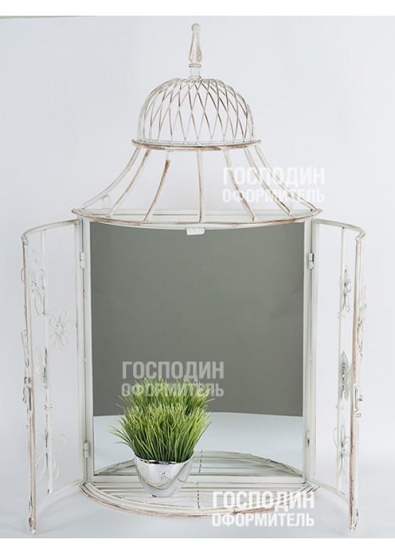 Зеркало-ставни, 42х18х86см, металл