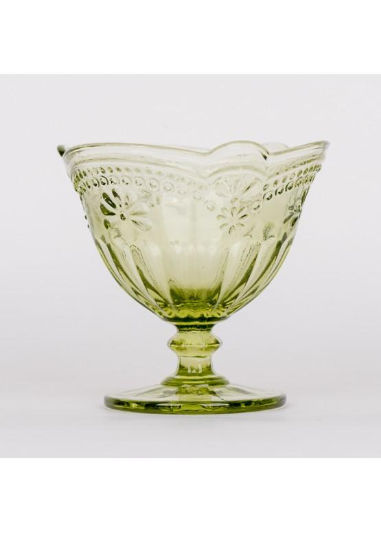 11108 Креманка, зеленая, 11х11х10см, стекло