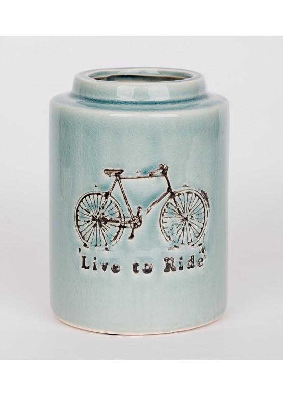 12422 Декоративная ваза, керамика, 13х13х18см