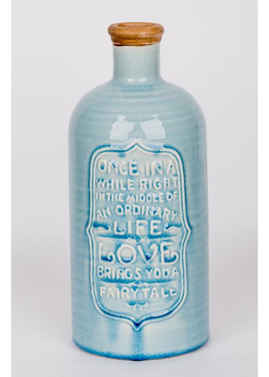 12423 Декоративная бутылка-ваза, керамика, 13х13х32см