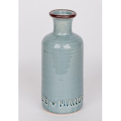 12425 Декоративная бутылка-ваза, керамика, 10х10х25см