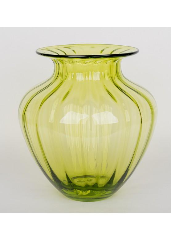 Ваза зеленая, 20х20х30см, стекло
