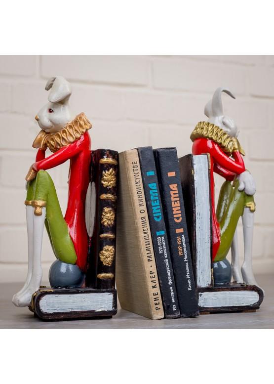 2111-1 Статуэтка/держатель для книг  «Кролики», 10х12х30см, поликерамика