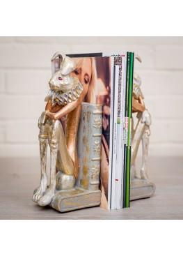 2111-3 Статуэтка/держатель для книг «Кролики», 10х12х30см, поликерамика