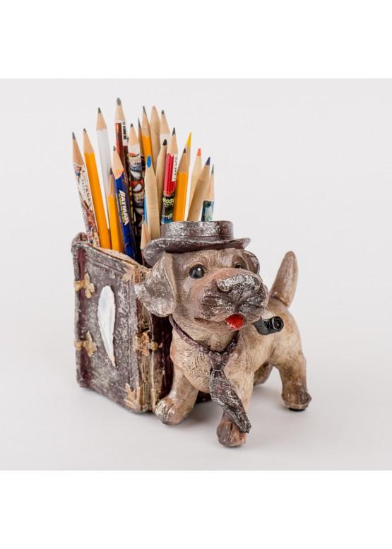 Как сделать карандашницы собачку