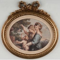 1914/B Картина- Медальон
