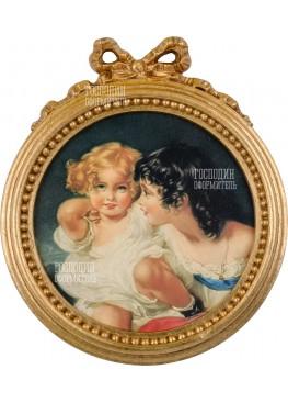 5980/A картина-медальон 30,5х36,5см