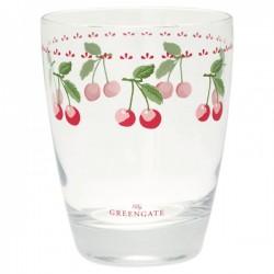 Стакан стеклянный Cherry white