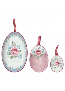 Набор из 3-х декоративных яиц Meryl white