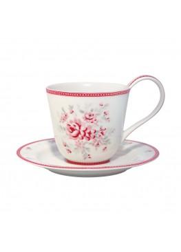 Чайная пара Flora White