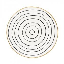 Тарелка Sally black w/gold 21 см