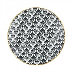 Тарелка Victoria black w/gold 21 см