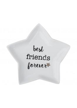 """Десертная тарелка-звездочка """"Best friends forever"""", 20Х20СМ"""