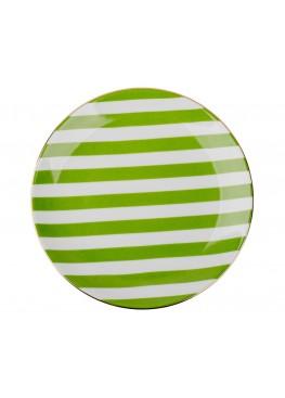 """Тарелка """"Зеленая полоска"""", d23см"""