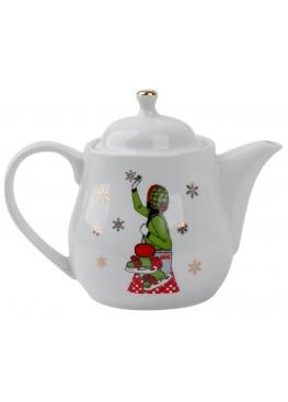 """Чайник """"Классическое рождество.  Девушка и коньки"""", 500ml"""