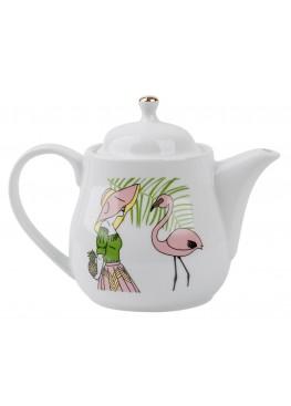 Чайник Девушка с фламинго