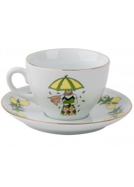 """чайная пара """"Девушка и лимоны"""", 180ml"""