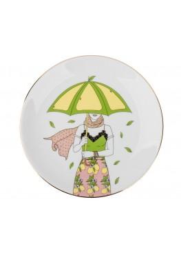 "Тарелка ""Девушка с лимонами"", d23см"