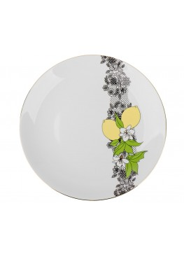 """Тарелка """"Лимоны. Кружево"""", d23см"""