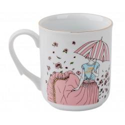Чашка Девушка с зонтиком (лето)