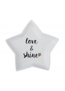 "Десертная тарелка-звездочка ""Love&shine"", 20Х20СМ"