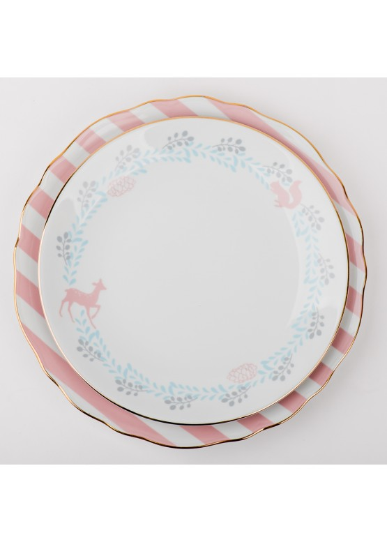 "Тарелка ""Романтическое рождество. Кайма"", d23см"