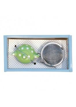 Ситечко для заварки чая «Simone green», металл, керамика