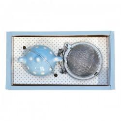 Ситечко для заварки чая «Simone blue», металл, керамика
