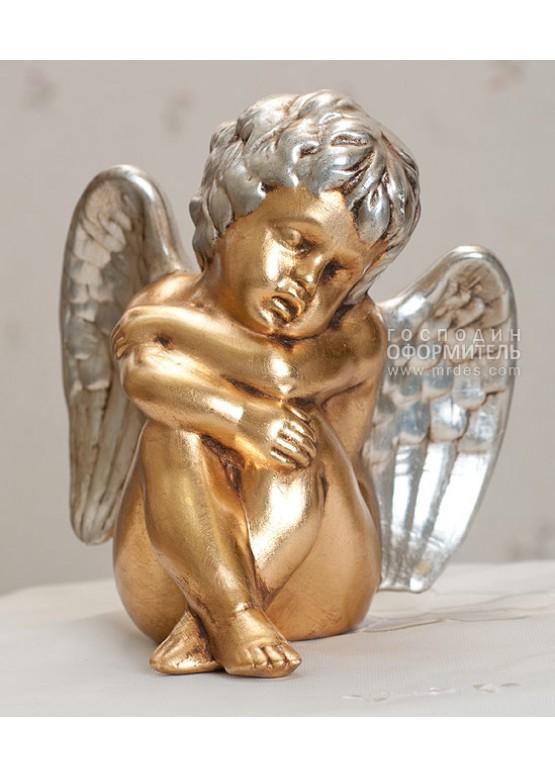Статуэтка «Ангел», Н22см, 24-каратное золото, ручная работа, керамика