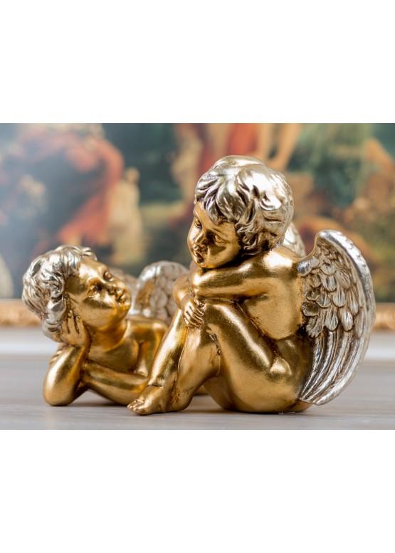 Статуэтка «Ангел», Н34см, 24-каратное золото, ручная работа, керамика