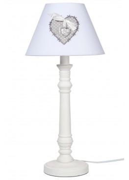 49011 Настольная лампа «Сердце», 25х25х47см, дерево