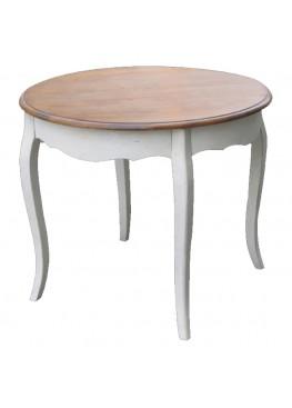 Стол круглый обеденный, 90х90х76см, массив березы