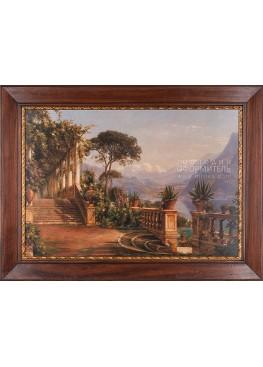 """1101 картина 88х118 Аагард Карл Фредерик """"Дом на озере Комо"""""""