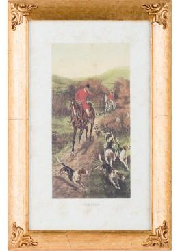 7441/B гравюра 25х40см, дерево, стекло