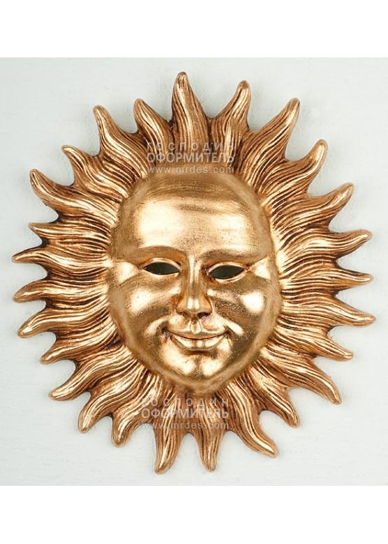 """Керамическое панно """"Солнце античное"""", Н19см"""