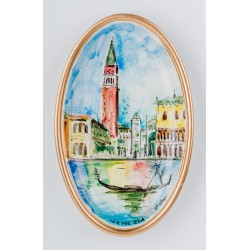 VE020/1 Декоративная тарелка (настенная), Н18см, керамика