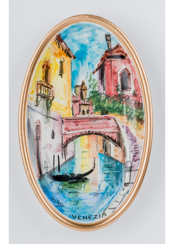 VE020/9 Декоративная тарелка (настенная), Н18см, керамика