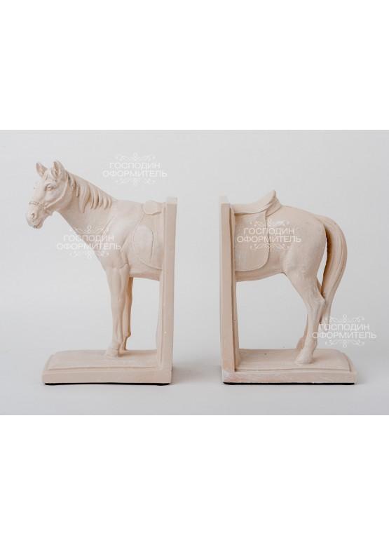 2108 Статуэтка/держатель для книг «Лошадь», 16х10х27см/16х10х22см, поликерамика