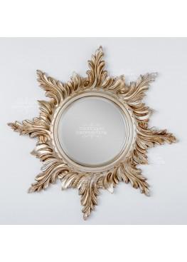 2117 Зеркало настенное «Солнце», d50см, поликерамика